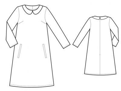 Модель № 4. Платье-трапеция с воротничком.