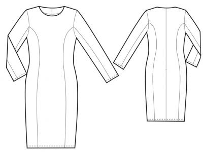 Модель № 5. Платье-футяр из костюмной ткани.