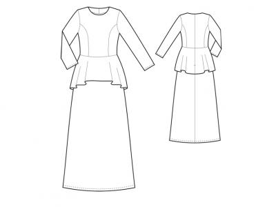 Модель № 6. Платье с баской.