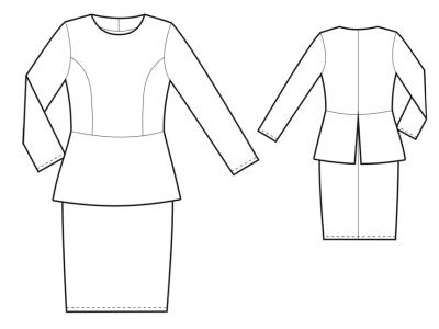 Модель № 8. Трикотажное платье с баской.