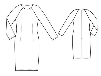 Модель № 9. Трикотажное платье с рукавами реглан.