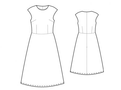 Модель № 10. Платье на подкладке.