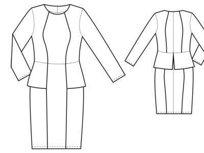 Модель № 13. Платье с рельефными швами.
