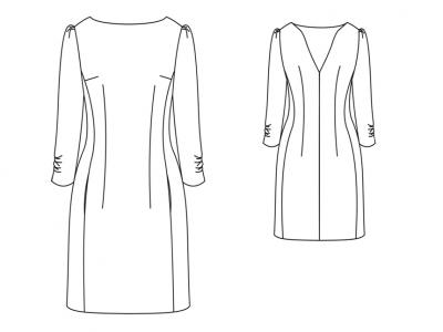 Модель № 14. Платье с глубоким вырезом на спинке.