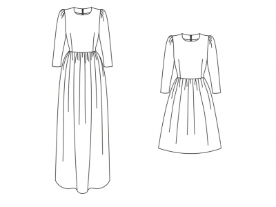 Модель № 15. Платье отрезное по линии талии.