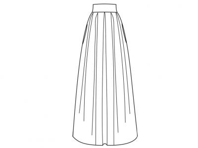 Модель № 18. Длинная юбка с бантовыми складками.