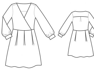 Модель № 20. Платье из шифона на трикотажной подкладке.