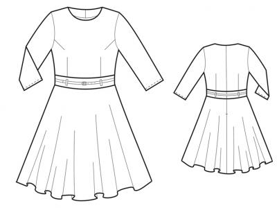 Модель № 25. Платье с юбкой-солнце.