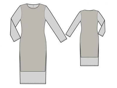 Модель № 26. Трикотажное платье на подкладке.
